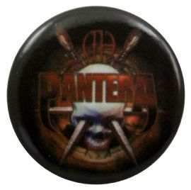 Pantera - 'Skull and Knives' Button Badge